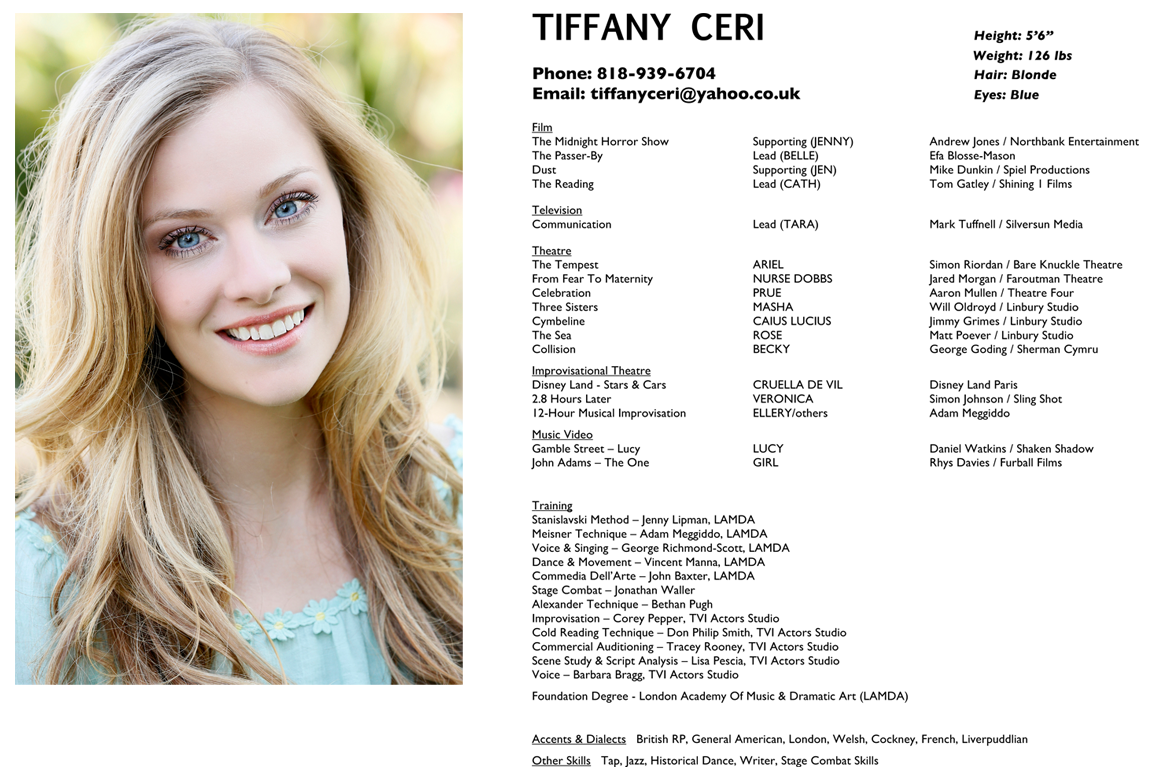 Resume Headshot Tiffany Ceri